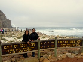Typical Asian tourist at Cape of Good Hope.