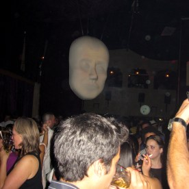 The creepy floating face at The Fez.
